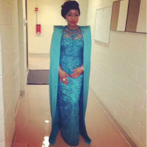 Rita Dominic's fabulous outfit to the NEA designed by Ugonna Omeruo for HON
